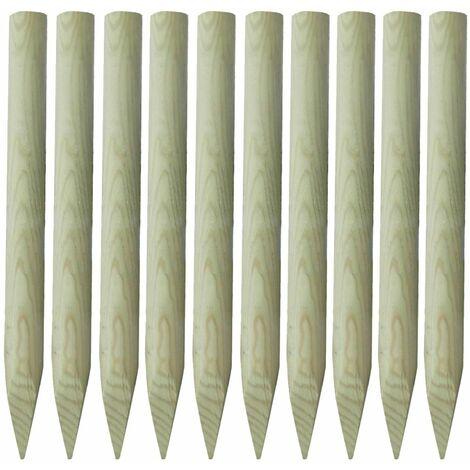 Poteaux de clôture 10 pcs Bois 100 cm