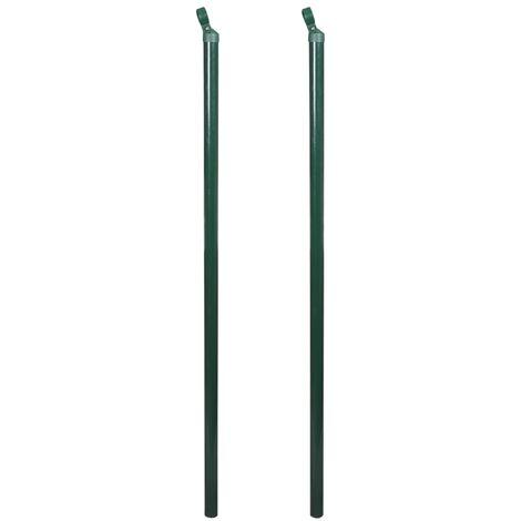 Poteaux de clôture 2 pcs 115 cm
