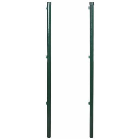 Poteaux de clôture 2 pcs 175 cm