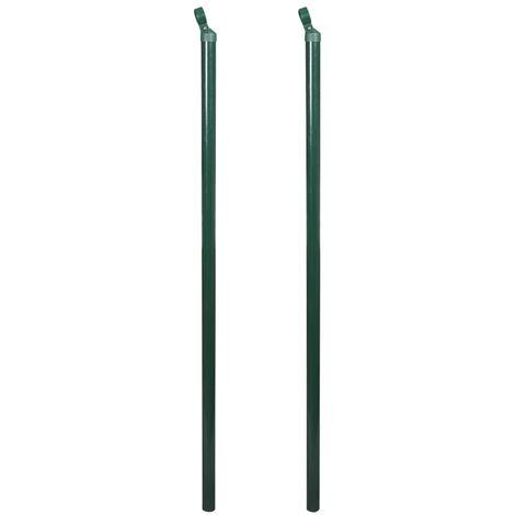 Poteaux de clôture 2 pcs 200 cm