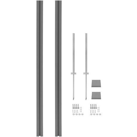 Poteaux de clôture 2 pcs WPC 185 cm