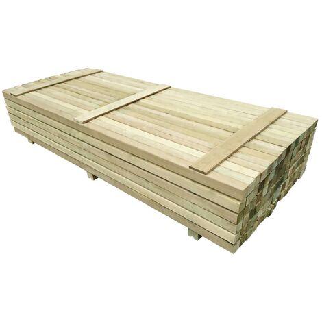 Poteaux de clôture 96 pcs Bois de pin imprégné 6x6x240 cm