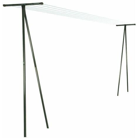 Poteaux d'étendage extérieur (par 2) Vert 25 mm