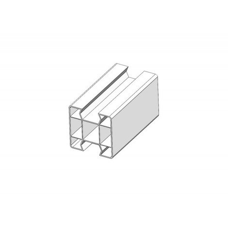 Poteaux PVC pour kit clôture (complet 1 sortie) - Poteau - Hossegor - hauteur 0,80m
