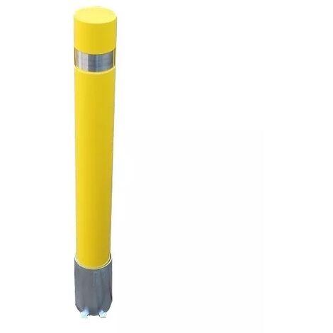 Potelet amovible 120P-Y JAUNE (s'entrouvrant) haute résistance avec base enterrée