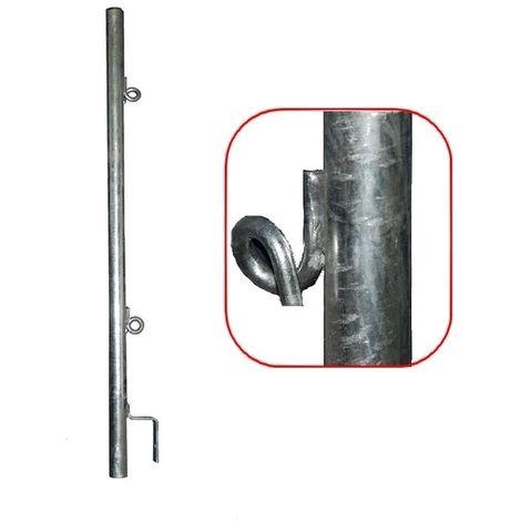 Potelet seul à anneau galvanisé pour GC 2 positions Ø 40 mm