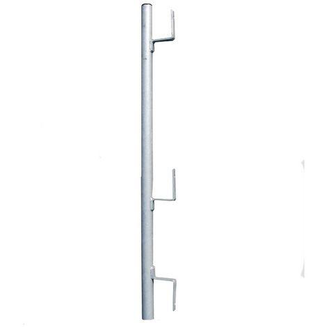 Potelet seul à planche galvanisé pour GC pince escalier Ø 40 mm