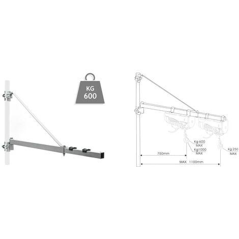Potence pivotante pour palan - 600kg max - 110 cm
