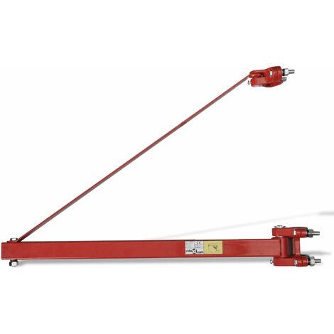 Potence pour palan 600 kg bras cadre treuil électrique - Noir