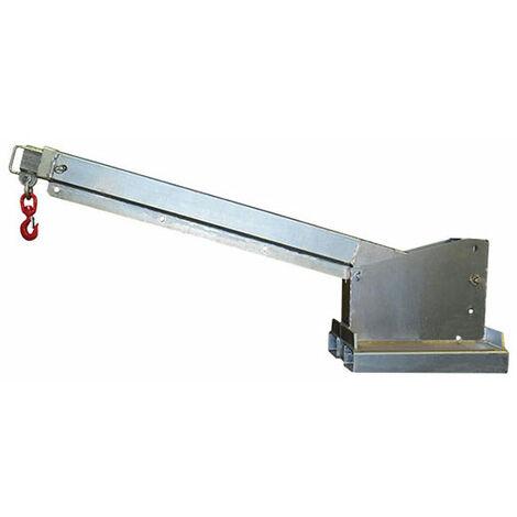 Potence télescopique et inclinable galva pour chariot élévateur (plusieurs tailles disponibles)