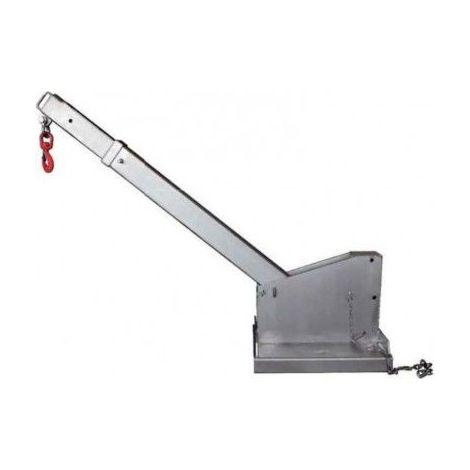 Potence telescopique et inclinable galvanisée - Capacité : 2.5 tonnes