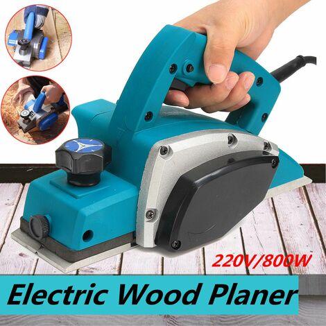 Potente cepillo eléctrico de mano para madera, plano de puerta, 220 V, 800 W, superficie de herramienta eléctrica para trabajar la madera