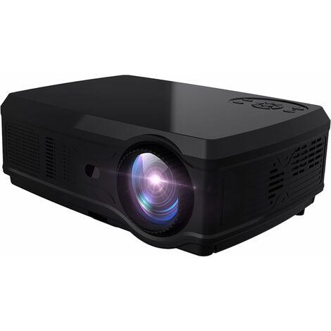 POTENTE SV-358 1920 * 1080P LED Proyector de video Full HD Android 7.1 2G + 16G Wifi Bluetooth Soporte 4K Home Cinema Beamer - Enchufe de la UE NEGRO