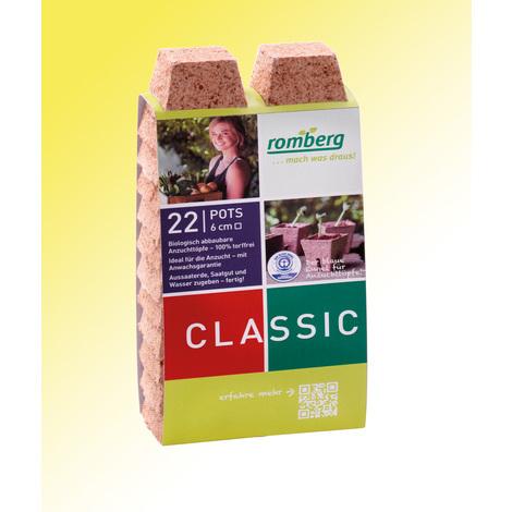 Pots biodégradables - 22 pots carrés 6 cm - Pour réussir vos semis et vos boutures