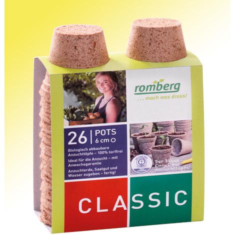 Pots biodégradables - 26 pots de diamètre 6 cm - Pour réussir vos semis et vos boutures