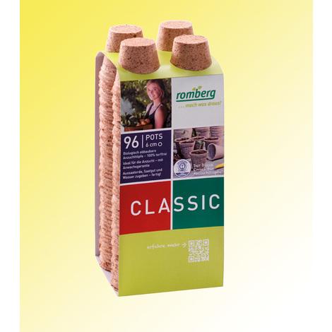 Pots biodégradables - 96 pots de 6 cm de diamètre - Pour réussir vos semis et vos boutures