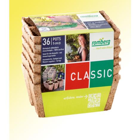 Pots biodégradables et plaques - les 6 plaques - Pour réussir vos semis et vos boutures