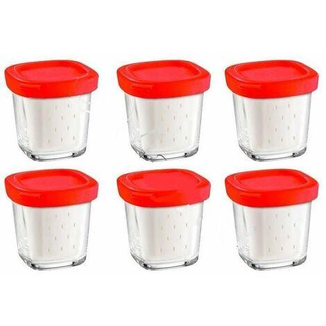Pots de yaourt par 6 pour Robot Moulinex, Yaourtiere Seb