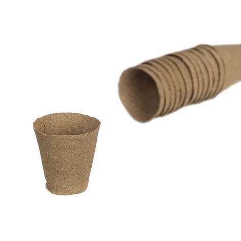 Pots en tourbe Nature Rond 6 cm - 24 x 4 pcs