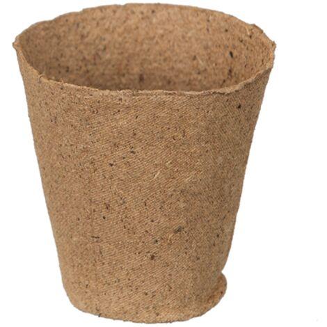 Pots en tourbe Nature Rond 8,5 cm - 18 x 3 pcs