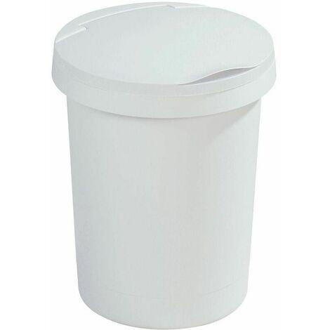 Poubelle 10L avec couvercle Twinga - Blanc