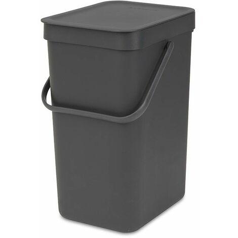 poubelle 12l gris - 109805 - brabantia