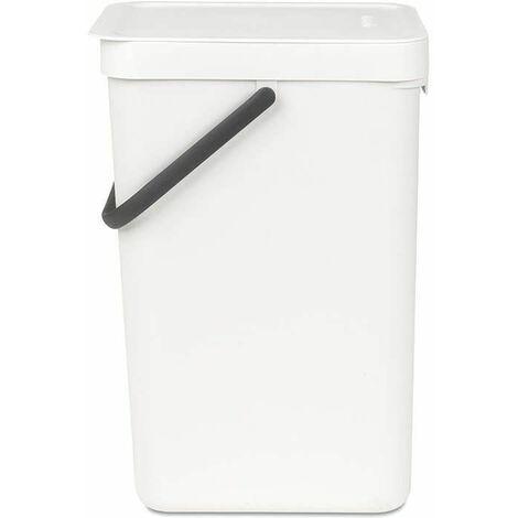 poubelle 16l blanc - 109942 - brabantia