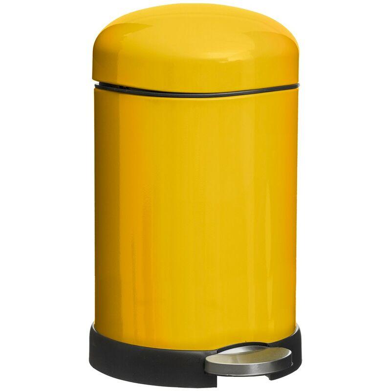 Poubelle 20L rétro Colors jaune - Jaune