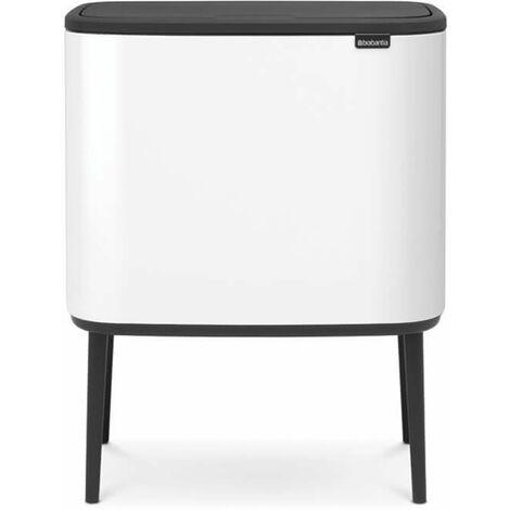poubelle 36l blanc