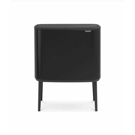 poubelle 36l noir mat - 315824 - brabantia