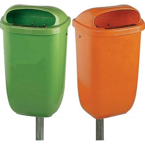 Poubelle 50 l plastique vert