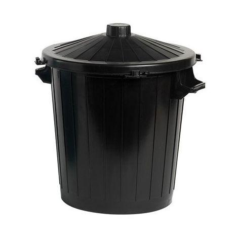 Poubelle 80 L - Noir