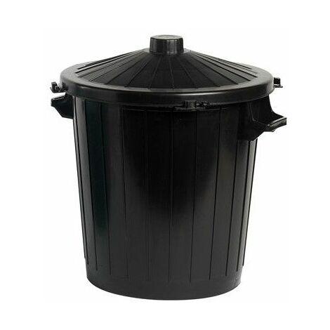 Poubelle 80 L - Noir - Livraison gratuite
