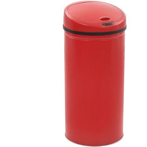 Poubelle à capteur 52 L Rouge