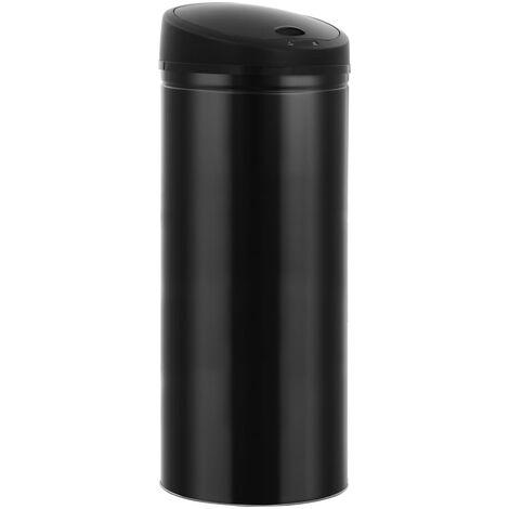 Poubelle à capteur automatique 62 L Noir