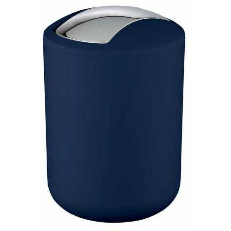 Poubelle à couvercle oscillant Brasil S bleu foncé WENKO