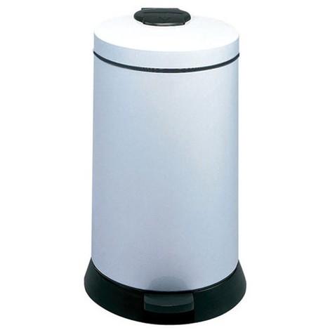 poubelle à pédale 20l blanc - 92990 - rossignol