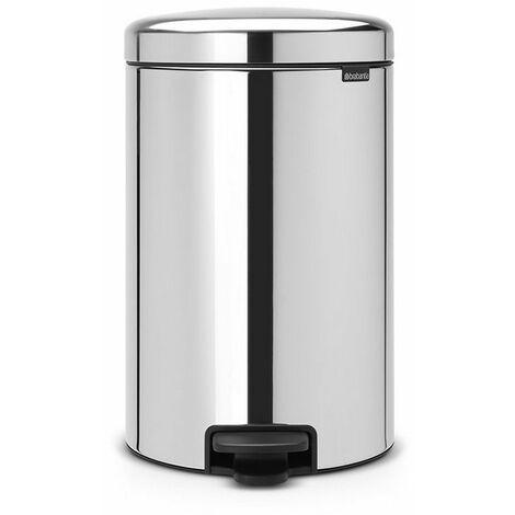 poubelle à pédale 20l brilliant steel - 114267 - brabantia