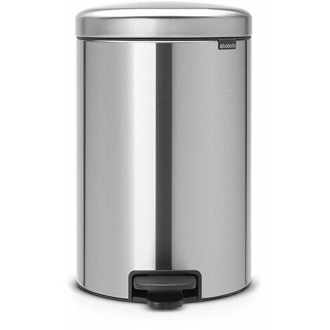 poubelle à pédale 20l matt steel - 114021 - brabantia