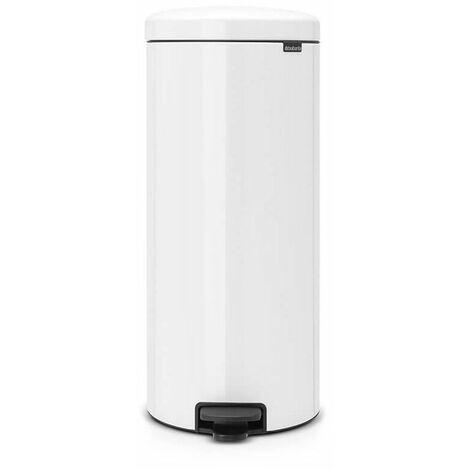 poubelle à pédale 30l blanc - 114748 - brabantia