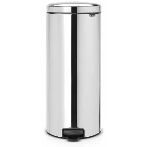 poubelle à pédale 30l brillant steel - 114762 - brabantia