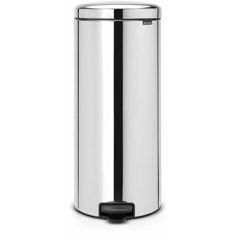poubelle à pédale 30l brilliant steel - 114366 - brabantia