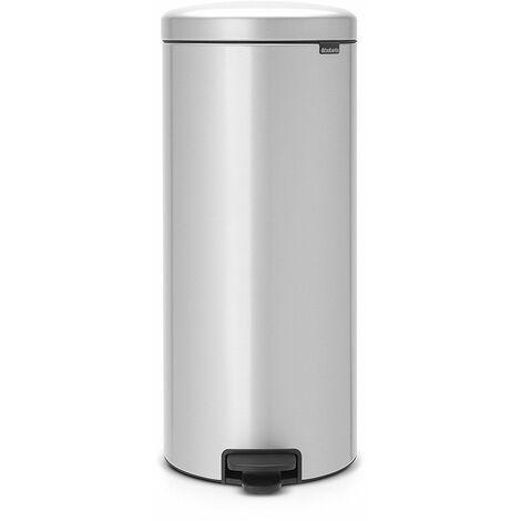 poubelle à pédale 30l gris métallique - 114465 - brabantia