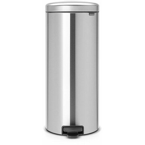 poubelle à pédale 30l matt steel - 114380 - brabantia