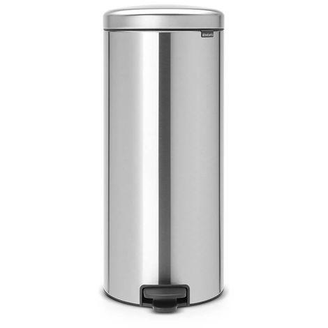 poubelle à pédale 30l matt steel - 114786 - brabantia