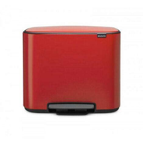 poubelle à pédale 36l rouge passion - 121401 - brabantia