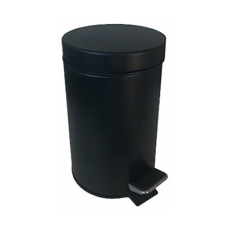 Poubelle à pédale - 5L - Acier - Noir