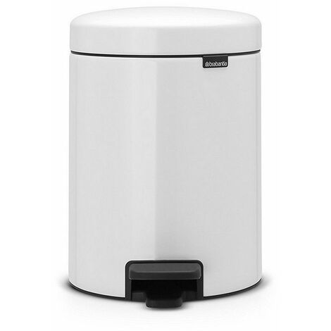 poubelle à pédale 5l blanc - 113406 - brabantia