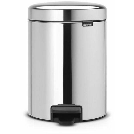 poubelle à pédale 5l brilliant steel - 112621 - brabantia