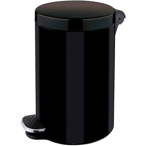 Poubelle à pédale, capacité 3 l, h x Ø 260 x 170 mm noir